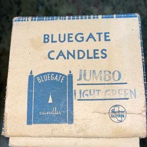 Blue gate Candles Jumbo Light Green IOB